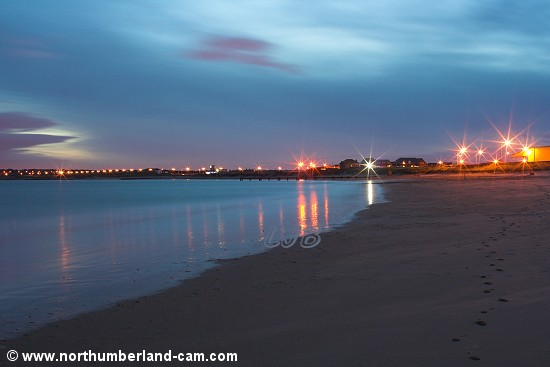 Blyth South Beach in the evening.