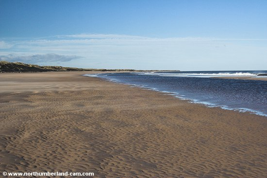 View to the north end of Druridge Bay.