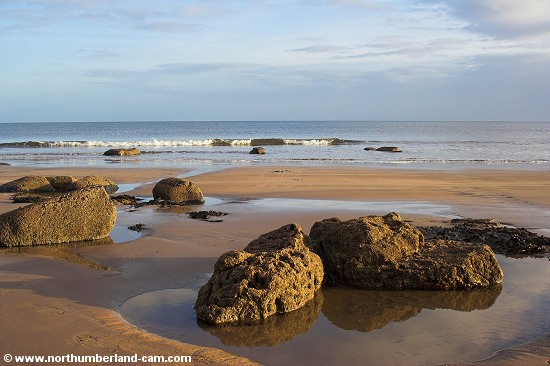 Rock Pools at the north end of Druridge Bay.