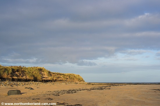 The most northerly point of the beach at Druridge Bay.