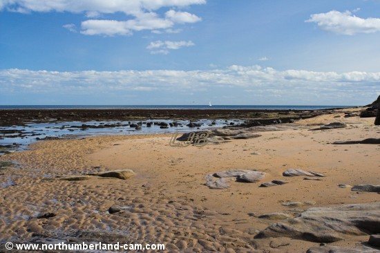 Rocks and small beach at Longhoughton Steel.