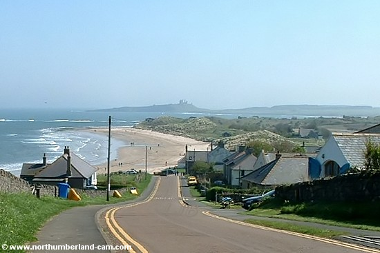 View of the beach at Low Newton from above the village.
