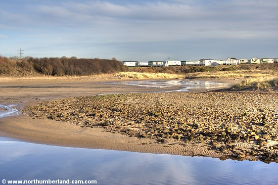 There are sands behind the dunes in the River Wansbeck Estuary.