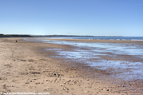 Warkworth Beach seen from Amble Breakwater.